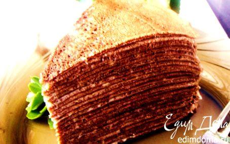 Рецепт Торт шоколадно-креповый с заварным кремом