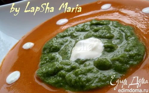 Рецепт Чечевичный крем-суп с брокколи и шпинатом