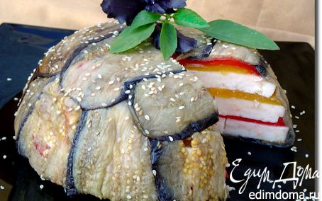 Рецепт Террин из запеченных перцев, баклажанов и брынзы