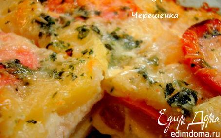 Рецепт Картофельная запеканка с колбасой