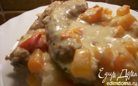 Рецепт Куриные шейки с овощами в сметанном соусе