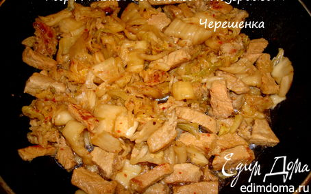 Рецепт Свинина с ким-чи. Рецепт №7. Корея