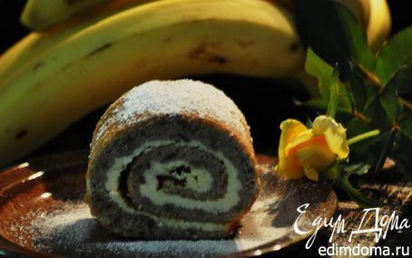 Рецепт Банановый рулет с творожной начинкой