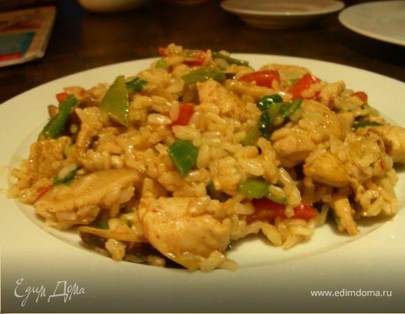 Курица с овощами в тайском стиле