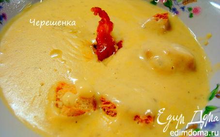 Рецепт Крем-суп с грибами и беконом