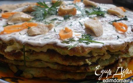 Рецепт Закусочный торт из кабачков