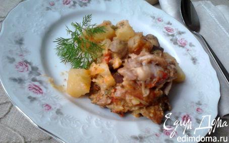 Рецепт Жаркое с курицей и грибами в горшочке