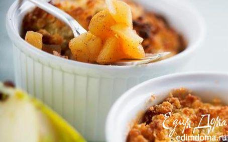 Рецепт Яблочный десерт «Скандия» с овсяными хлопьями Nordic с овсяными отрубями