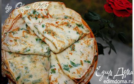 Рецепт Самые нежные и вкусные ТВОРОЖНЫЕ БЛИНЧИКИ с зеленью