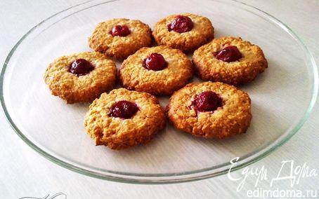 Рецепт Овсяное печенье с вишней