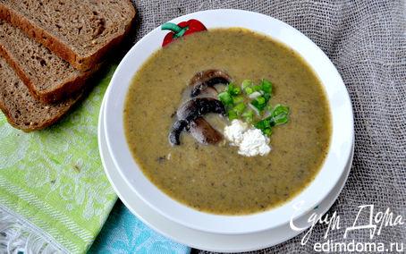 Рецепт Крем-суп с шампиньонами и тыквой