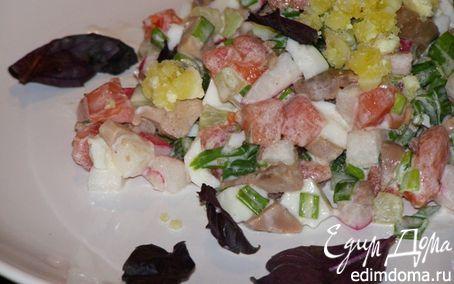 Рецепт – Салат с печенью трески