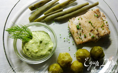 Рецепт Горбуша на пару с овощами и луковым соусом в пароварке