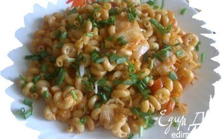 Рецепт Макароны с капустой и томатным соусом