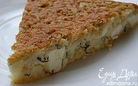 Рецепт Творожный пирог с брынзой и зеленью