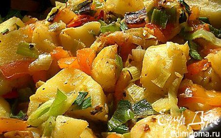 Рецепт Острая картошка с болгарским перцем