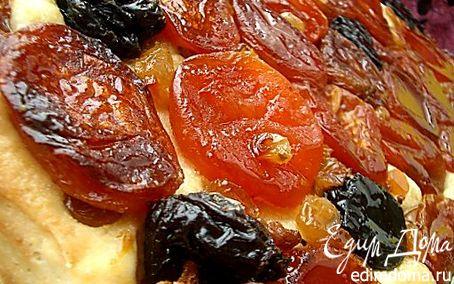 фото рецепт торт с изюмом черносливом и курагой
