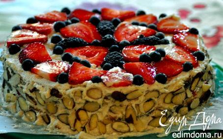 Рецепт Бисквитный торт со сливками
