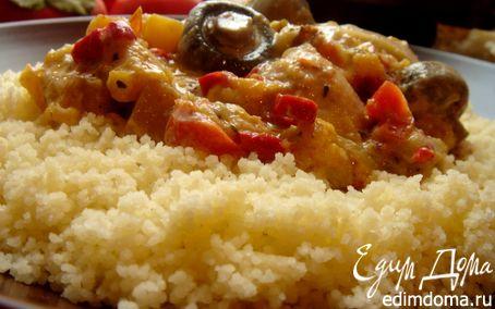 Рецепт Жаркое из курицы в сливочном соусе