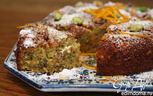Рецепт Апельсиново-фисташковый пирог на манке