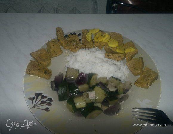 Говядина Табаско + рис и цукини