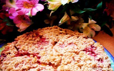Рецепт Овсяный пирог с творогом и клубникой