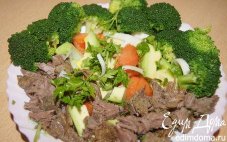 Рецепт Салат из запеченной говядины с овощами