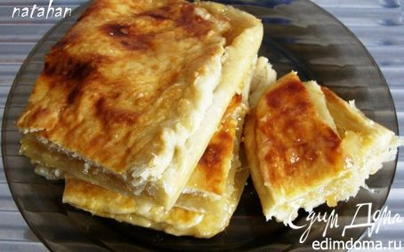 Рецепт Пирог Лимонник (из лже-слоёного теста)