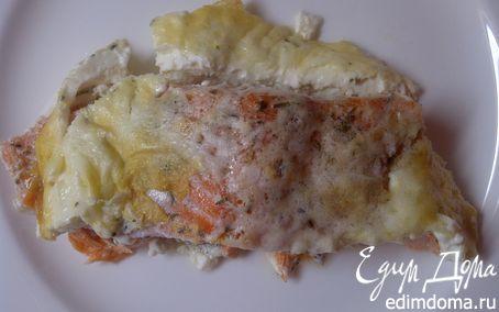 Рецепт Форель, запеченная в сливках