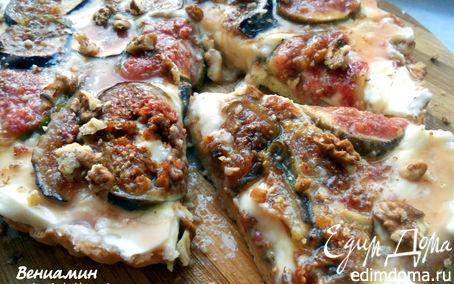 Рецепт Тарт с маскарпоне, инжиром и медовым соусом