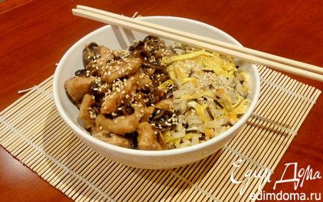 Рецепт Хибачи с курицей (с соусом терияки)