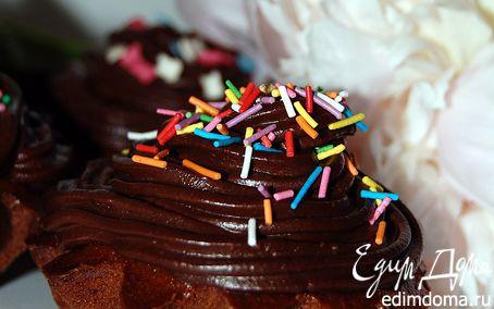 Рецепт Кексы шоколадные с шоколадным кремом
