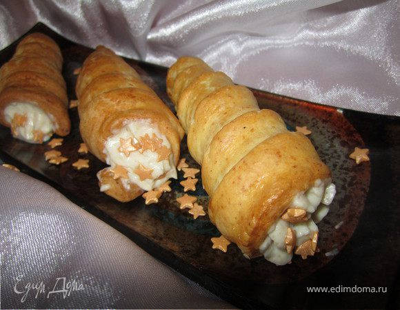 Трубочки с ореховым кремом