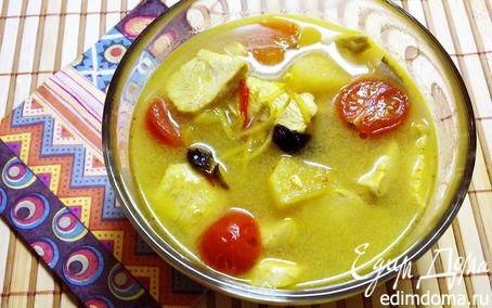 Рецепт Суп с курицей и ананасом