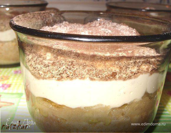 Десерт творожно-грушевый