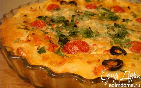 Рецепт Открытый творожно-дрожжевой пирог в двух начинках в хлебопечке