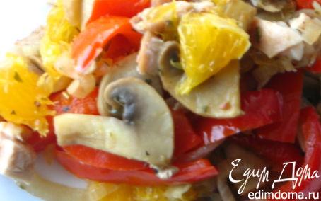 Рецепт Теплый салат в средиземноморском стиле