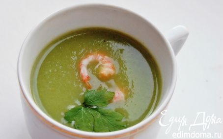 Рецепт суп-пюре из брокколи с креветками
