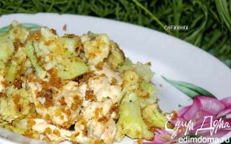 Рецепт Куриная грудка под цветной капустой «Дуэт»