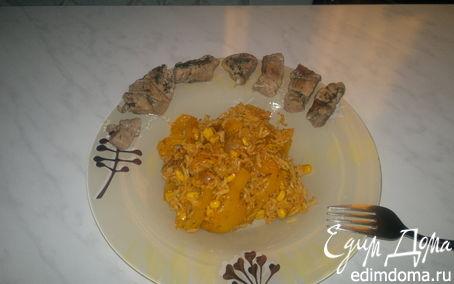 Рецепт Гавайский рис и мясо индейки.