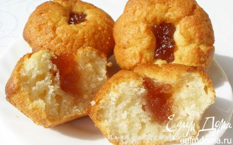 """Рецепт Кексы """"Улет"""" с яблочным джемом"""