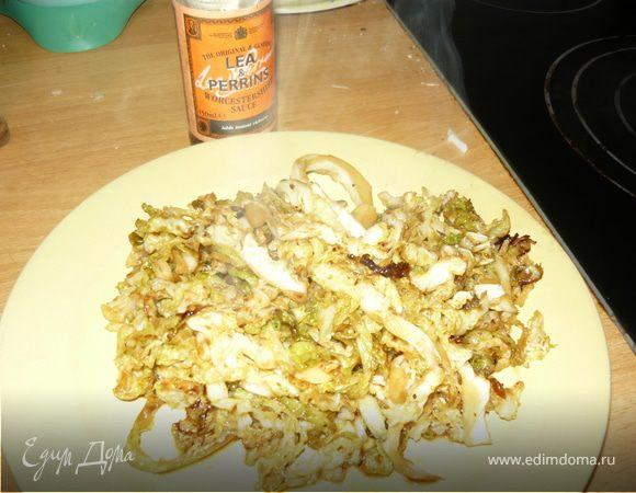 Савойская капуста с вустерским соусом Джейми Оливера