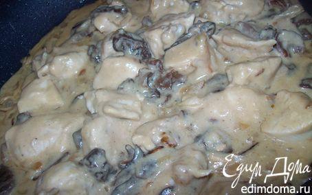 Рецепт Курица в сливочно - грибном соусе с медом