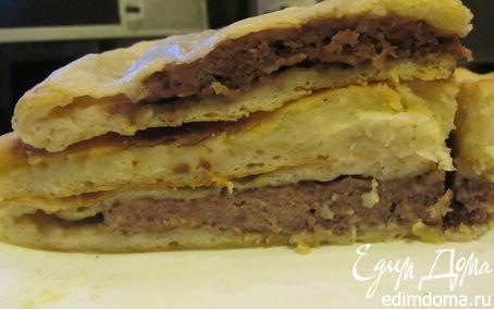 Рецепт Осетинские пироги с мясом, с картошкой и сулугуни