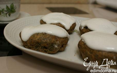 Рецепт Маковый кекс в белковой глазури
