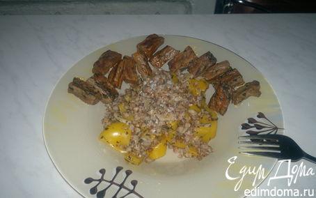 Рецепт Гречетто с Болгарским перцем и чесноком и говядина в эстрагоне.