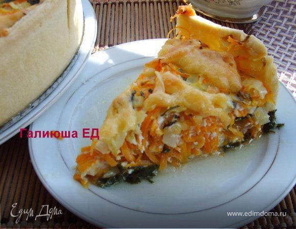 Киш с рыбой, морковью и луком для Натахан