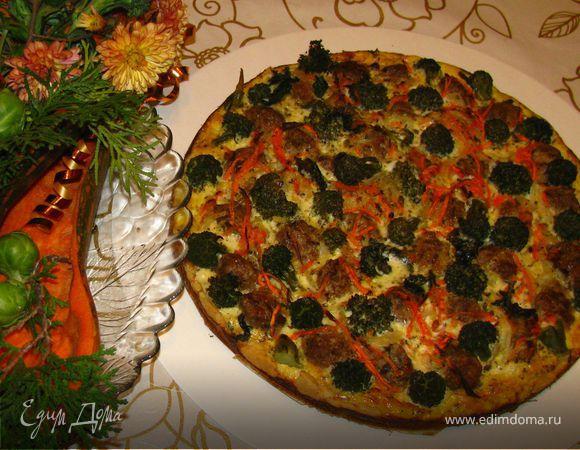 Вкусняшка с мясными шариками и брокколи для Черешенки