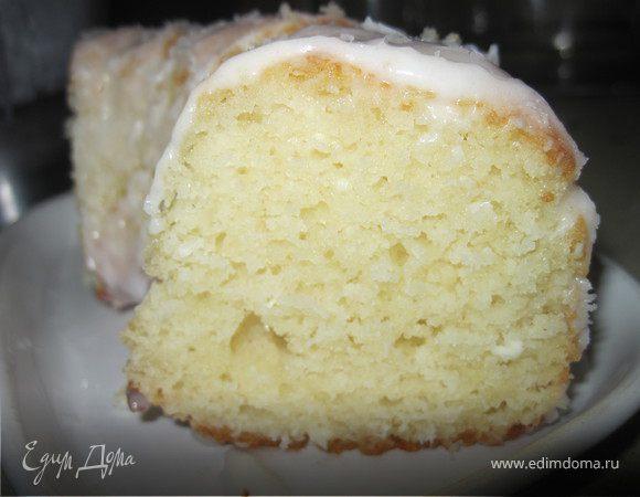 Творожный кекс с кокосовой стружкой