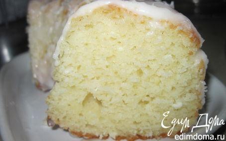 Рецепт Творожный кекс с кокосовой стружкой